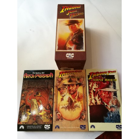 LA TRILOGÍA DE INDIANA JONES EN VIDEO VHS.