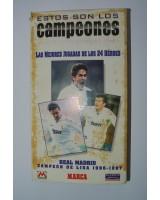 ESTOS SON LOS CAMPEONES. LAS MEJORES JUGADAS. REAL MADRID. CAMPEON DE LIGA 1996-1997. VIDEO VHS DE MARCA