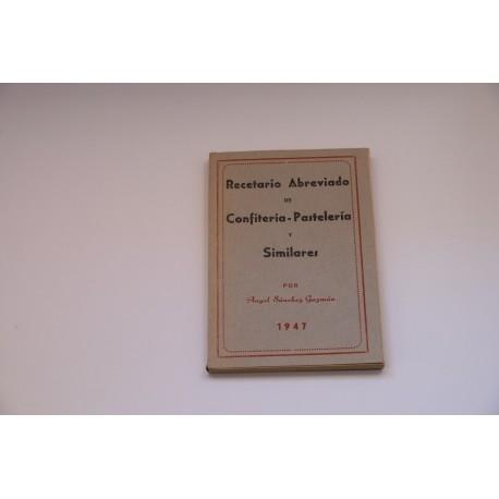 RECETARIO ABREVIADFO DE CONFITERIA-PASTELERIA Y SIMILARES