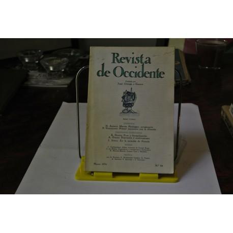 REVISTA DE OCCIDENTE. NÚMERO 84. MARZO 1970