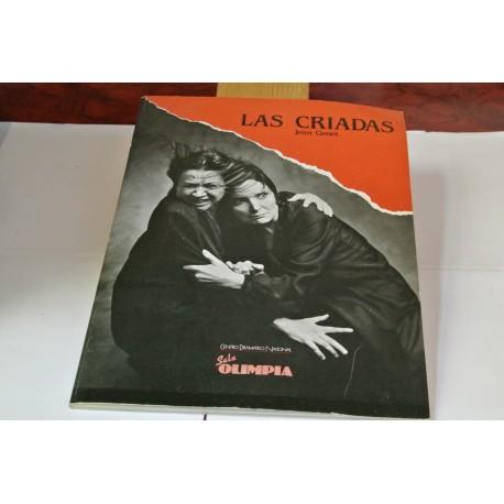 """PROGRAMA DE LA REPRESENTACIÓN DE """" LS CRIADAS"""" DE JEAN GENET EN LA SALA OLIPIMPIA DE MADRID. DICIEMBRE 1984"""