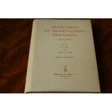 REPERTORIO DE MEDIEVALISMO HISPÁNICO (1955-1975)