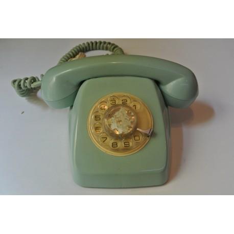 TELÉFONO DE SOBREMESA AZUL CLARO. VINTAGE